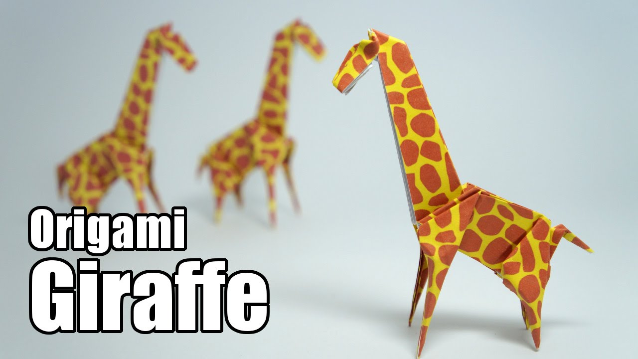 origami giraffe folding instructions