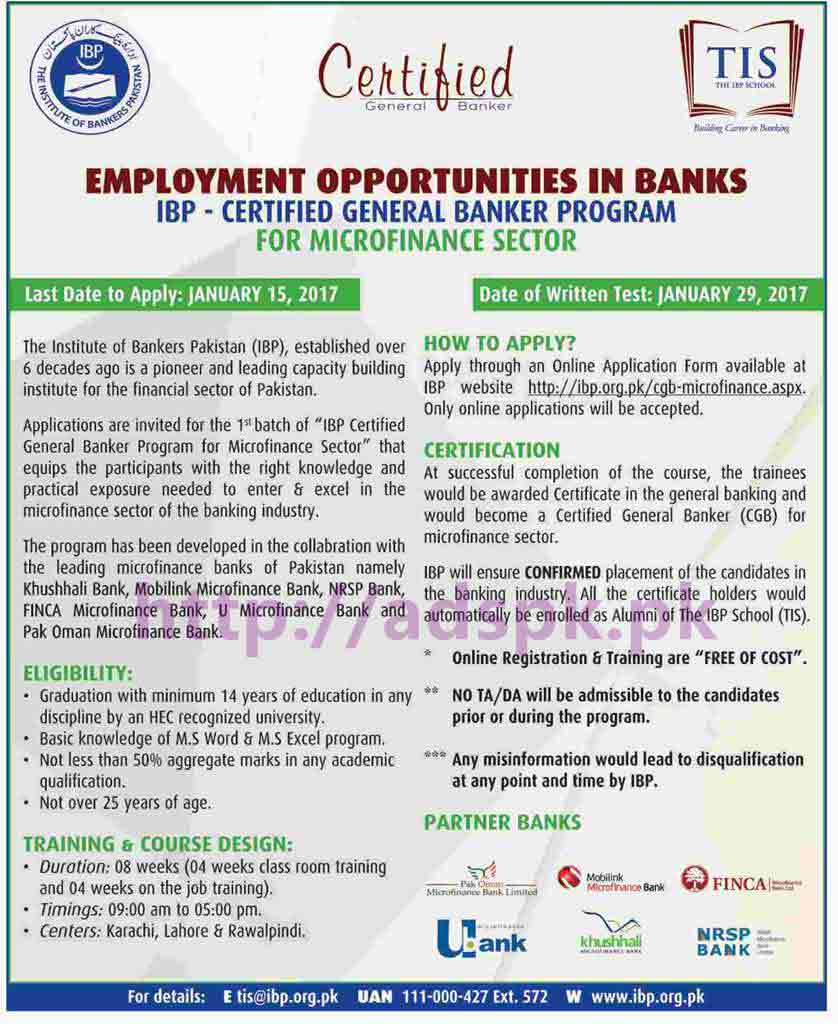 Application for employment as a mobile banker