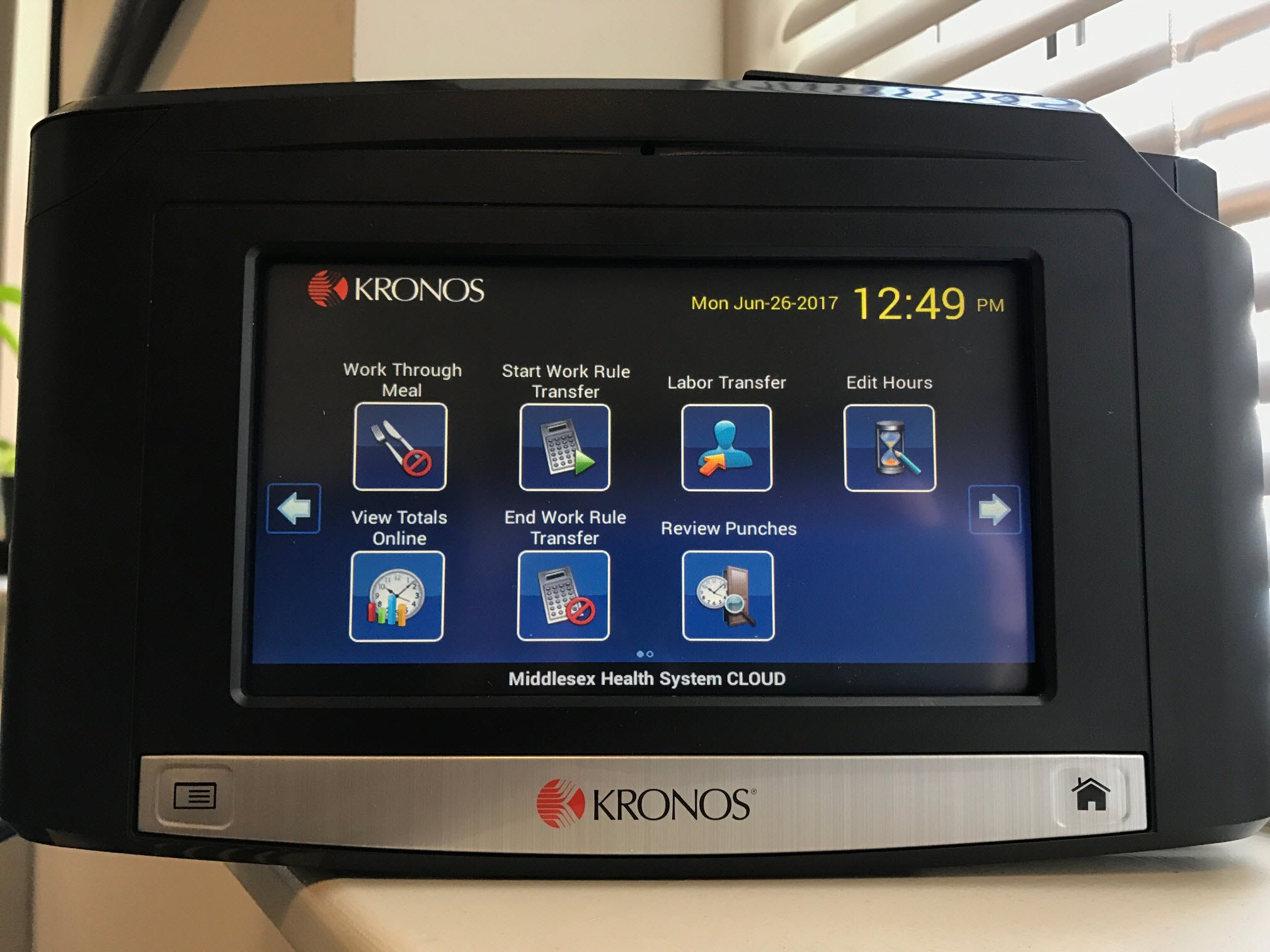 Instructions on how to use kronos time clock