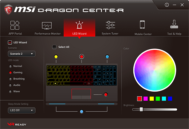 Msi gf62 7rd how to change colors keyboard led lights