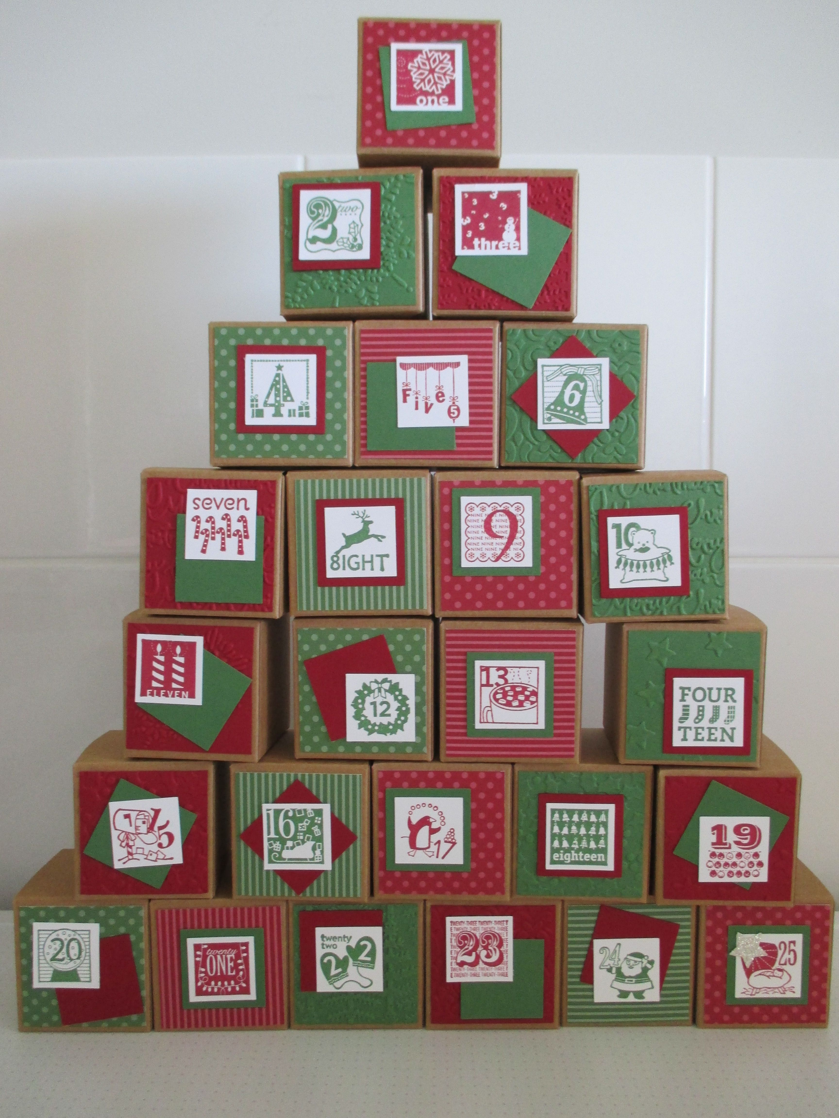 stampin up advent calendar instructions