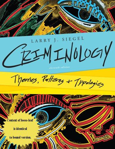 Criminology theories patterns and typologies pdf
