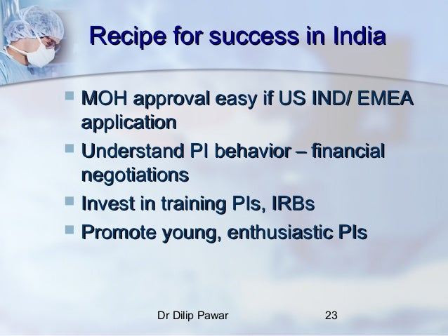 Ind application in clinical research