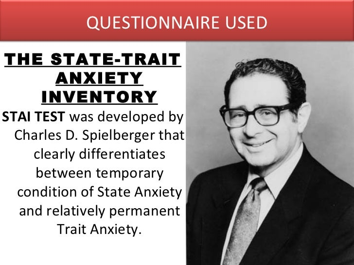 charles d spielberger state-trait anxiety inventory manual