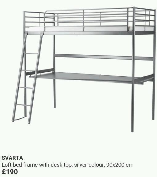 Svarta bunk bed instructions
