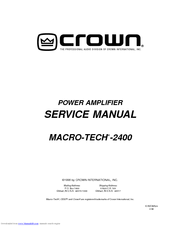 crown macro reference service manual