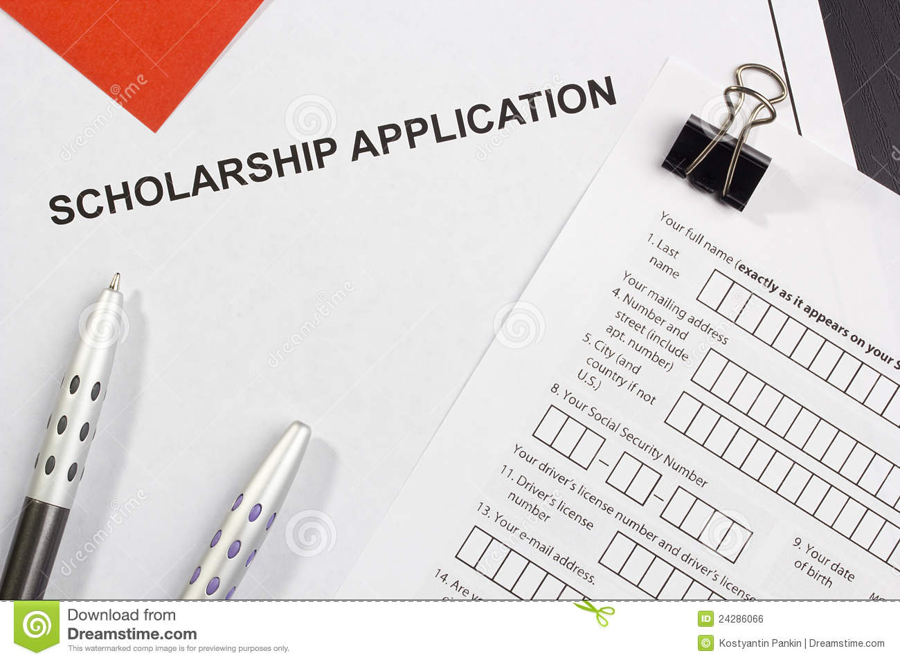 Supporting documentation u of s scholarships