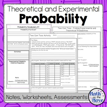 Experimental and theoretical probability worksheet pdf