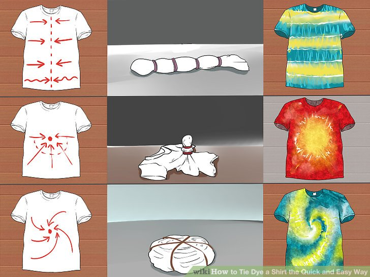 how to tie dye a shirt step by step instructions