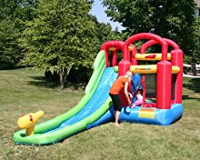 jplay double water slide inflatable instruction