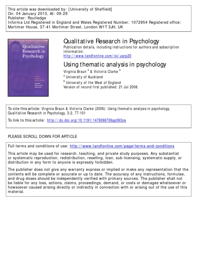 Thematic analysis in qualitative research pdf